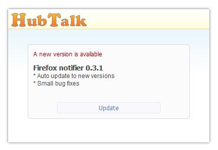 firefor notifier update panel
