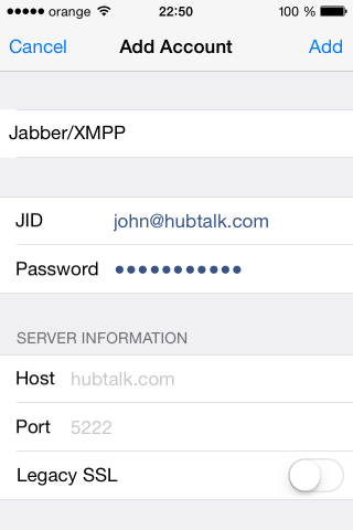 iphone hubtalk login